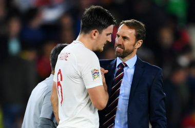 Harry Maguire proud of the badge.