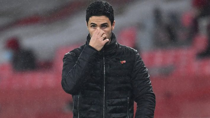 Arteta disappointed in the chance lost against Slavia Prague.