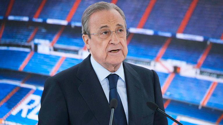 Florentino Perez believes Super League is much alive. Sportscliffs.com