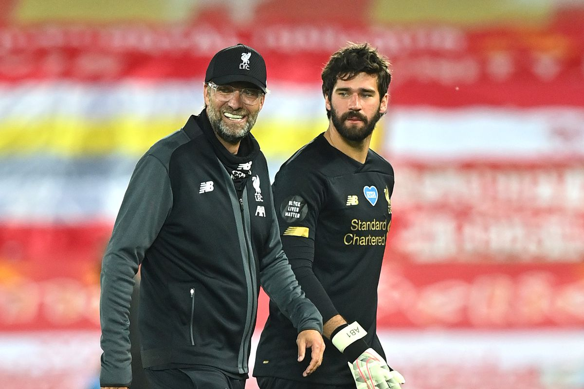 Klopp react to Alisson's goal and top 4 race.