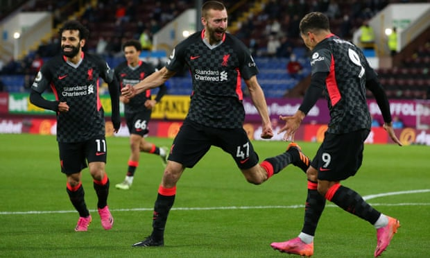 Liverpool beats Burnley to return to fourth position.