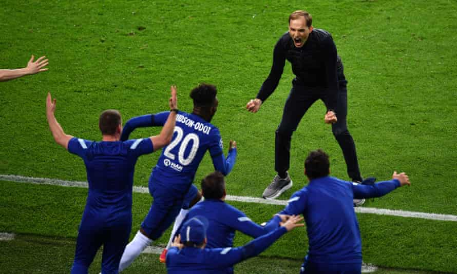 Tuchel happy to share moment with team and staffs.