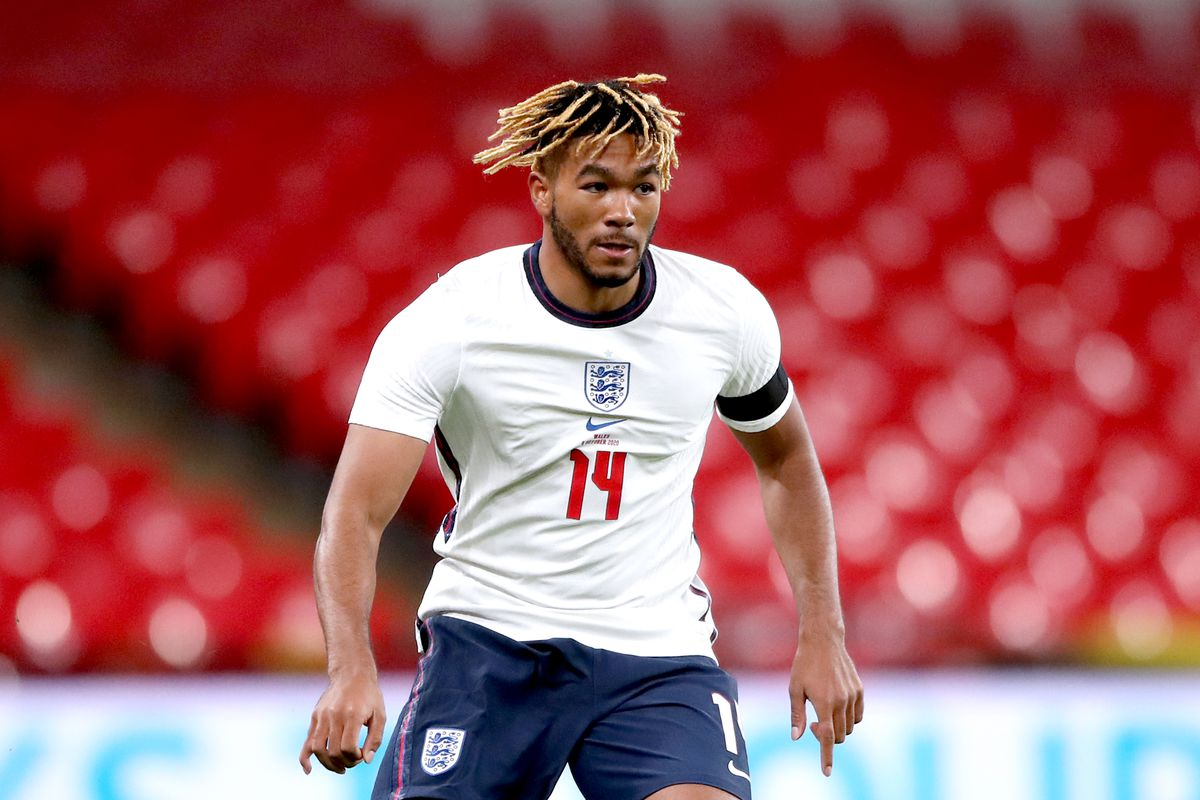 Reece James train in different position for England.