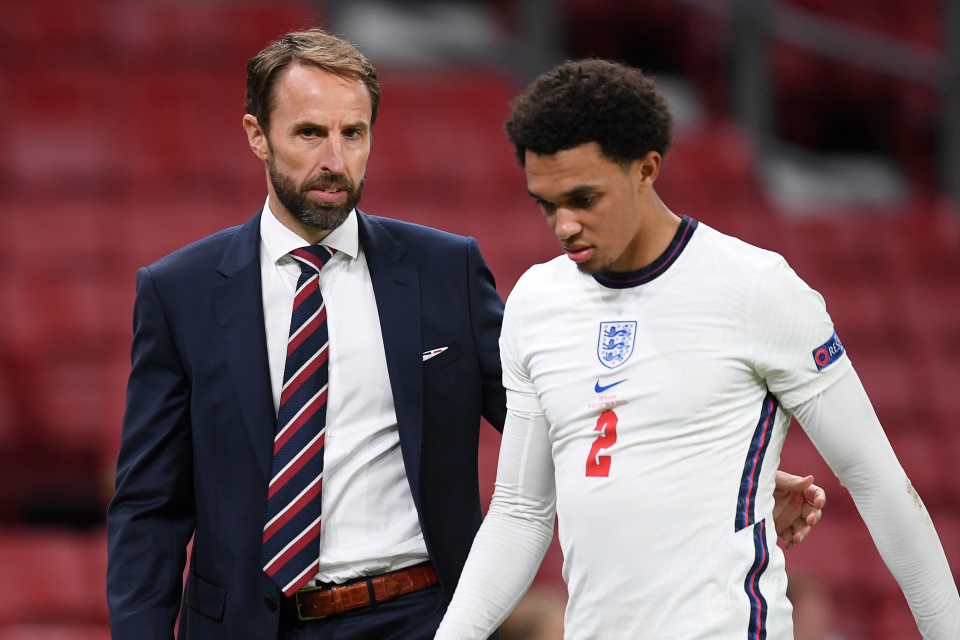 Southgate claims Trent's injury not a good sign.
