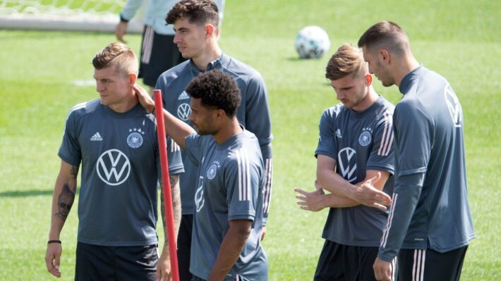 Germany restricted from training in Wembley.