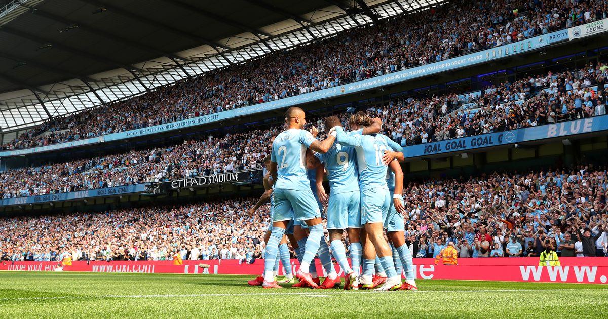 City put 5 goals past 10 men Arsenal.