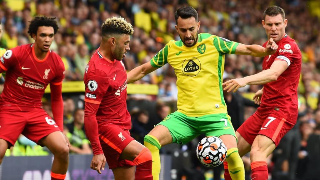 Jota scores as Reds defeats Norwich.