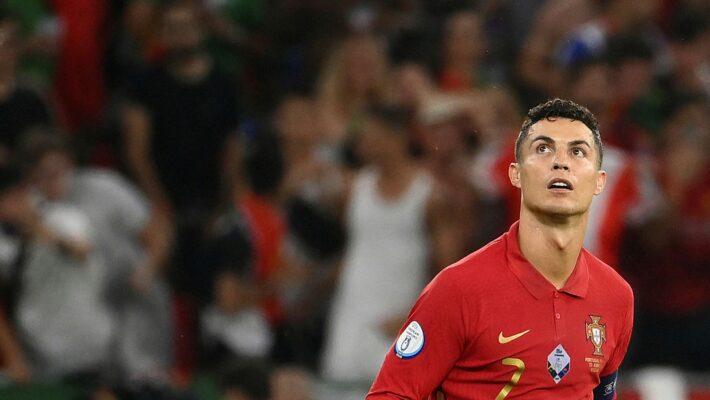 Ole gives Ronaldo early warning.