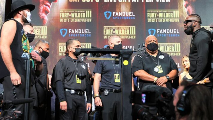 Fury, Wilder heaviest they weigh in career.